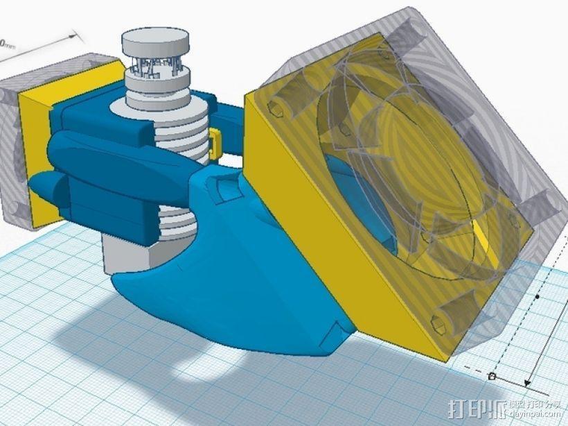 风扇架 打印喷头固定架 3D模型  图4