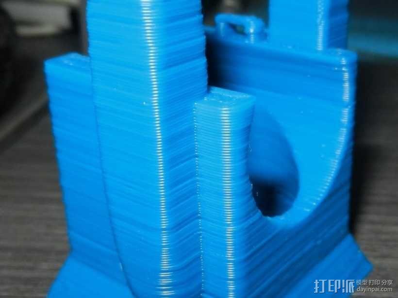风扇架 打印喷头固定架 3D模型  图10