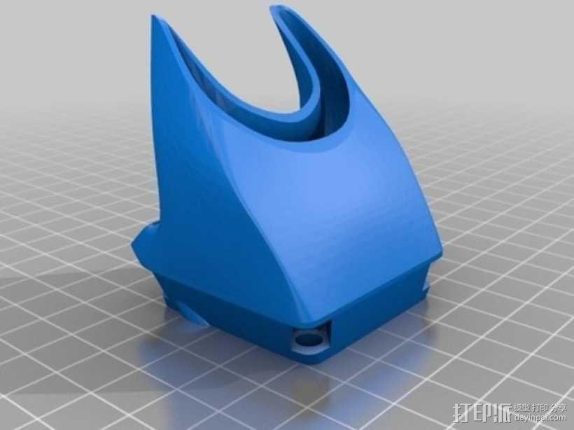 风扇架 打印喷头固定架 3D模型  图8