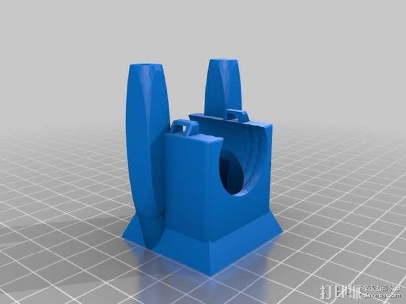 风扇架 打印喷头固定架 3D模型  图7