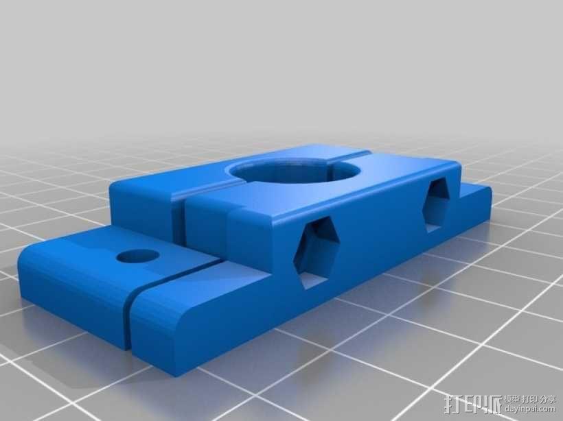 喷头固定凹槽 3D模型  图1
