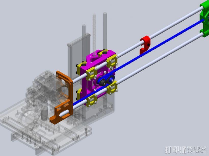 Printrbot打印机 Y轴部件 3D模型  图1