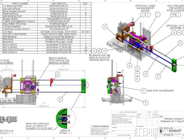 Printrbot打印机 Y轴部件 3D模型  图5