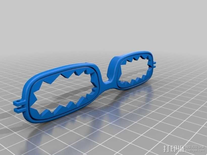 眼镜框 3D模型  图4