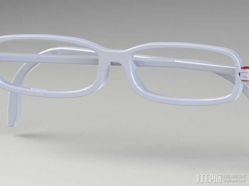 眼镜框 3D模型  图5
