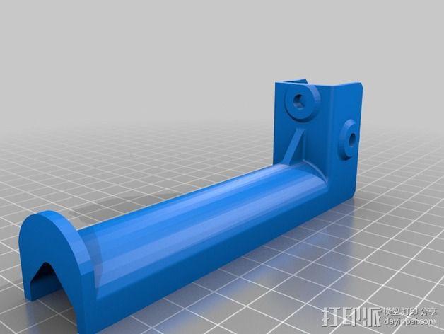 Kossel打印机线轴架 3D模型  图4