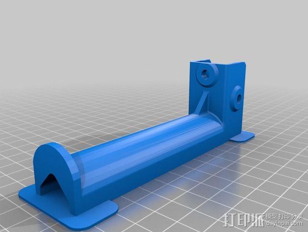 Kossel打印机线轴架 3D模型  图3