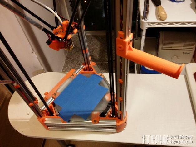 Kossel打印机线轴架 3D模型  图5