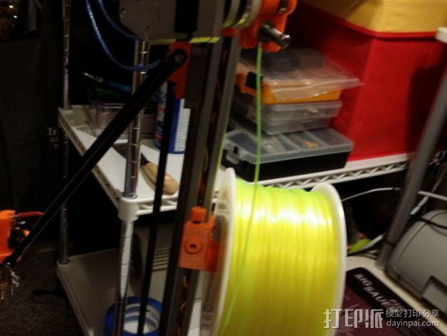 Kossel打印机线轴架 3D模型  图7