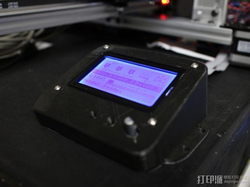 智能控制器LCD显示屏保护盒 3D模型  图1