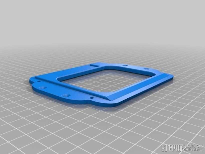 智能控制器LCD显示屏保护盒 3D模型  图4