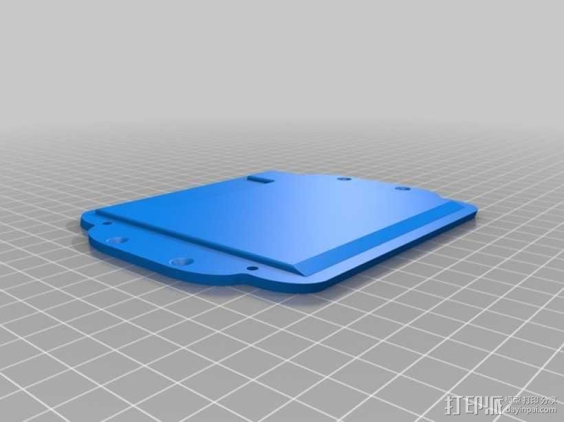 智能控制器LCD显示屏保护盒 3D模型  图5