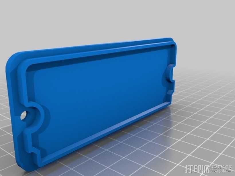 Octoprint/Raspberry Pi电源保护盒 3D模型  图2
