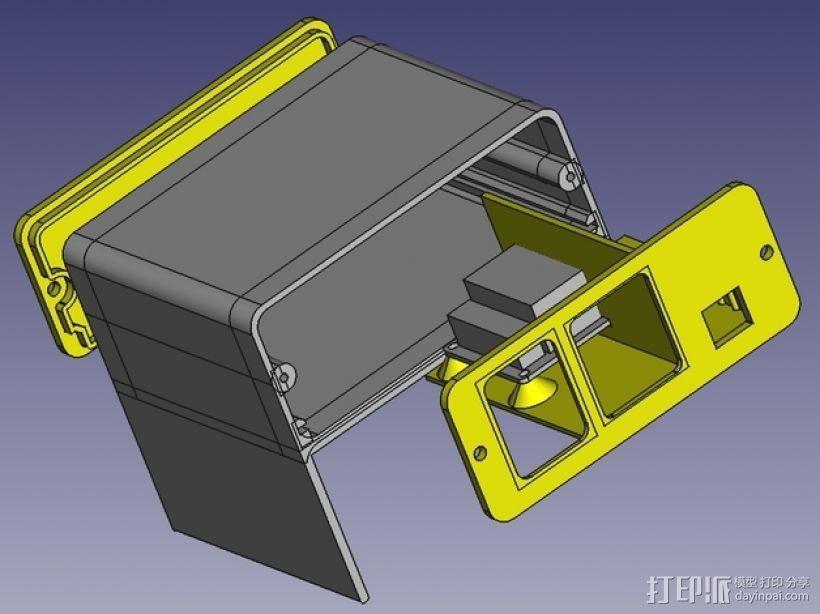 Octoprint/Raspberry Pi电源保护盒 3D模型  图6