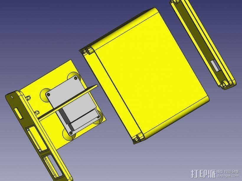 Octoprint/Raspberry Pi电源保护盒 3D模型  图7
