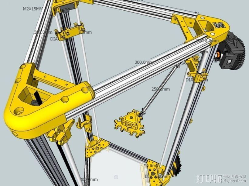Kossel 打印机 3D模型  图1