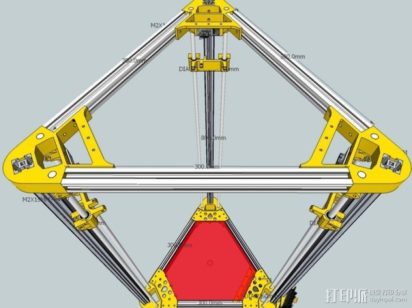 Kossel 打印机 3D模型  图26