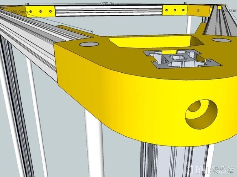 Kossel 打印机 3D模型  图47