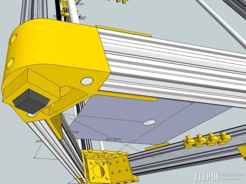 Kossel 打印机 3D模型  图54