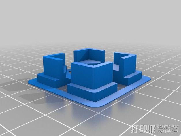 Replicator 2 / 2X打印机边角保护器 3D模型  图2