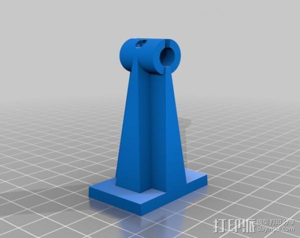 Robo3d打印机Z轴固定器 3D模型  图2