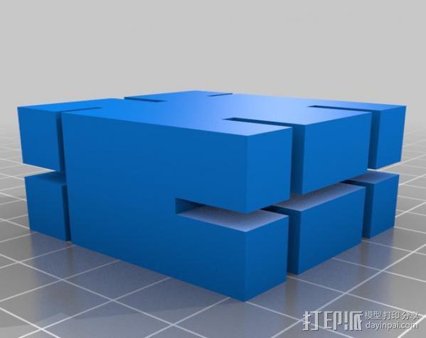 PLA材料打印测设 3D模型  图2