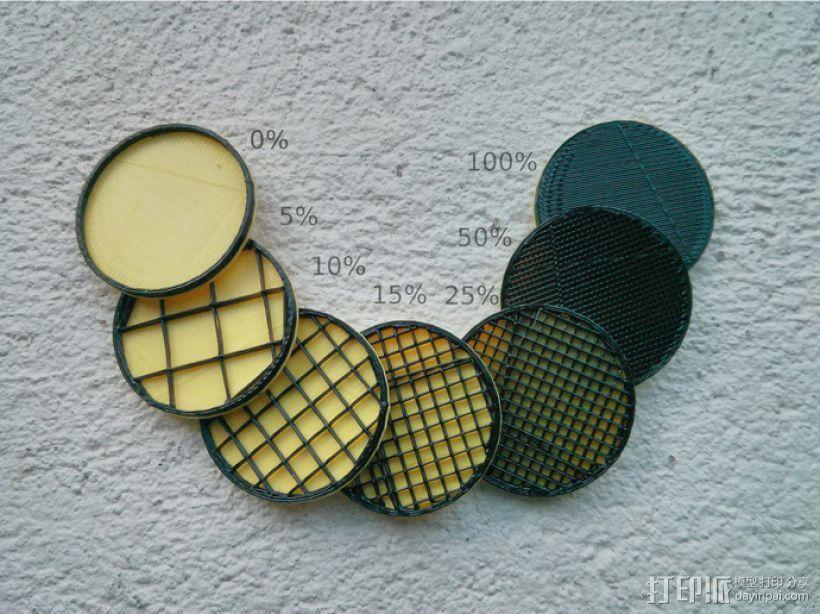 填充率磁盘 3D模型  图1