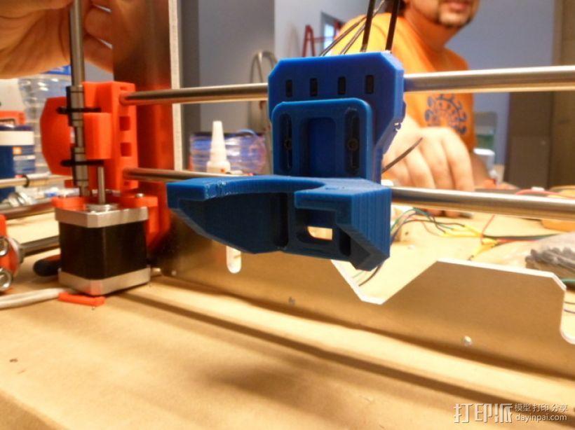 挤出机支撑架 3D模型  图1