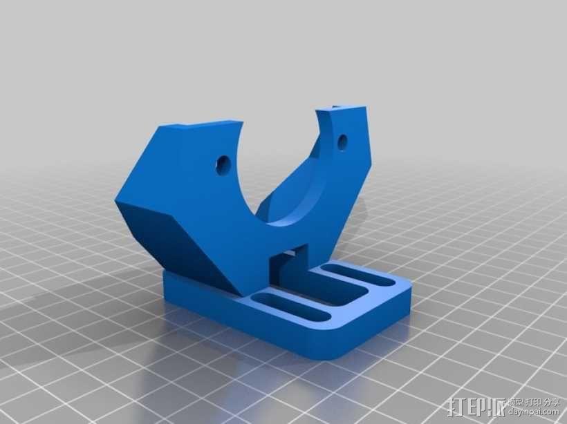 挤出机支撑架 3D模型  图2
