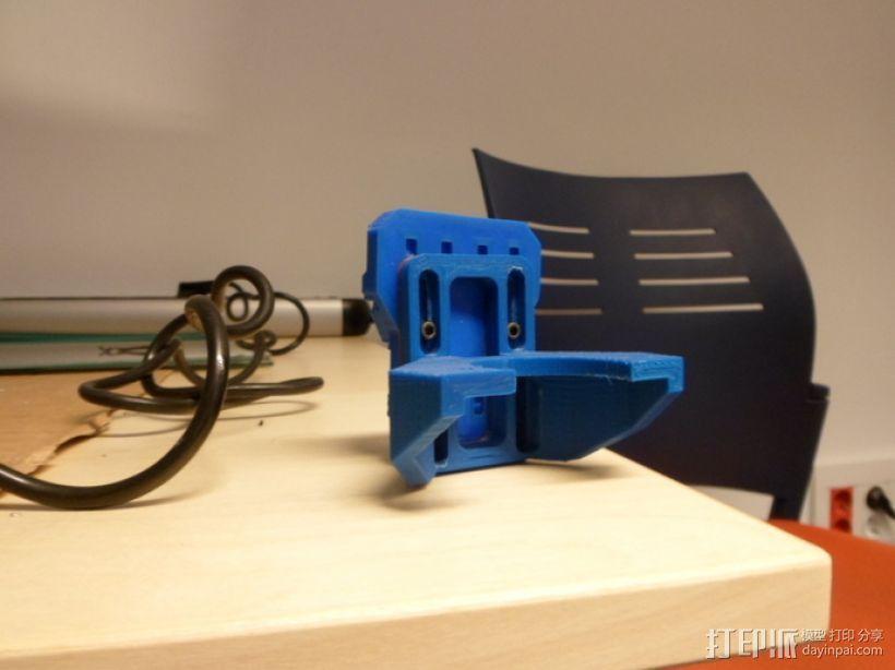挤出机支撑架 3D模型  图4