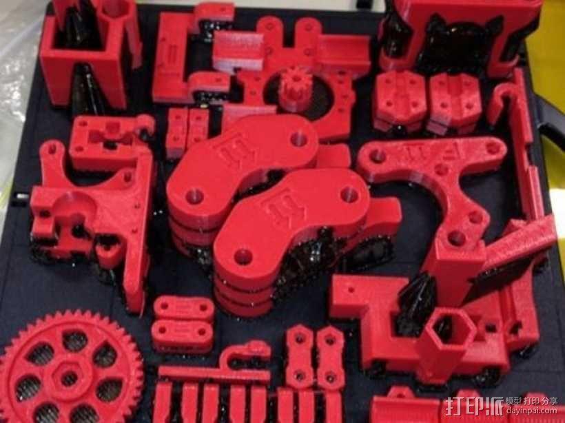 Prusa Mendel打印机 3D模型  图1