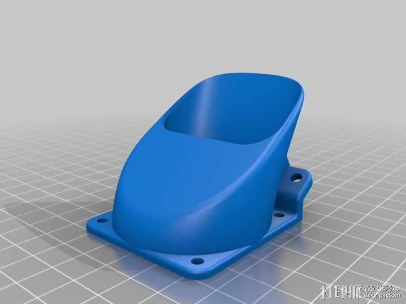 Ultimaker 挤出机通风导管 3D模型  图2