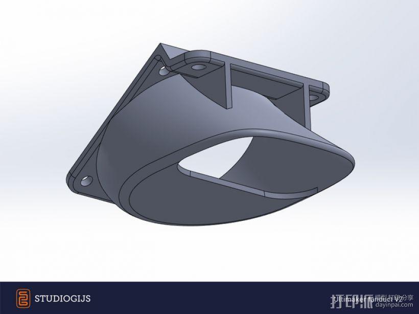 Ultimaker 挤出机通风导管 3D模型  图3