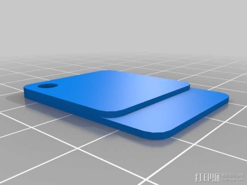 多彩丝状芯片样本 3D模型  图5