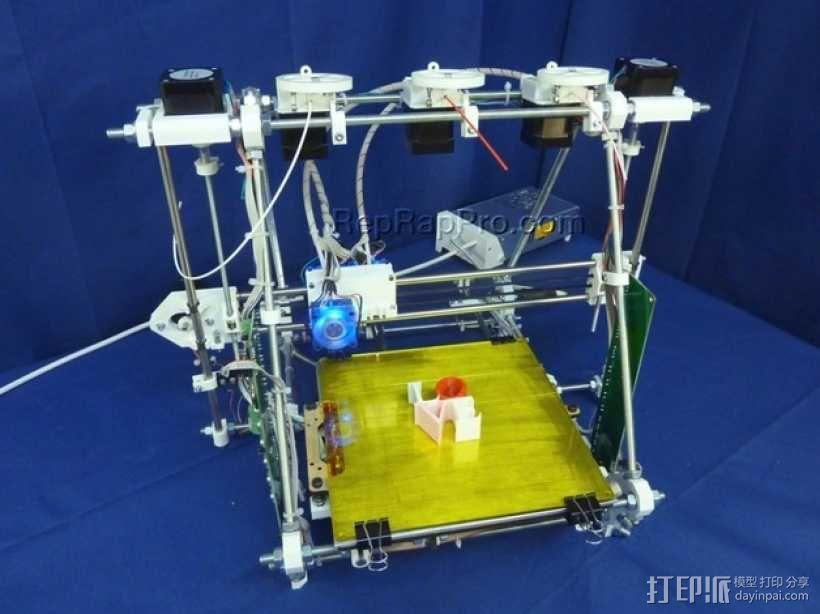 RepRapPro打印机部件 3D模型  图1