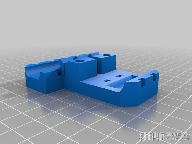 Prusa i3 直线驱动挤出机 3D模型  图2