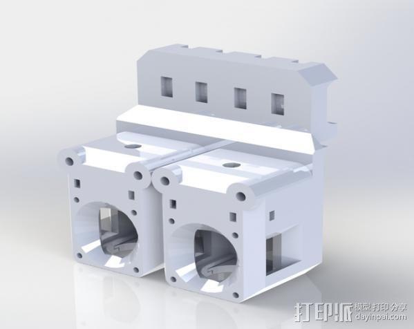 Prusa i3 直线驱动挤出机 3D模型  图7