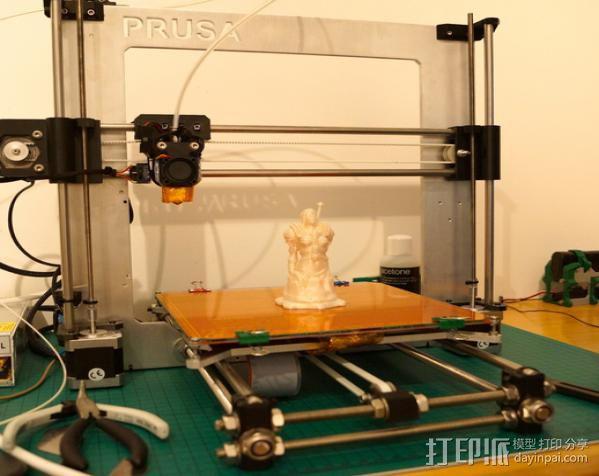 Prusa i3 直线驱动挤出机 3D模型  图8
