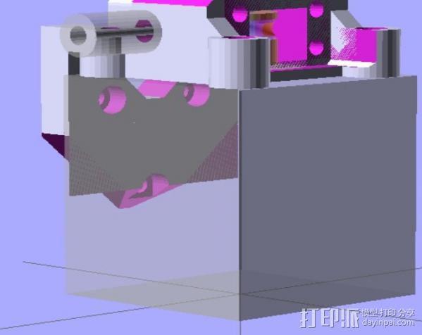 Prusa i3 直线驱动挤出机 3D模型  图10