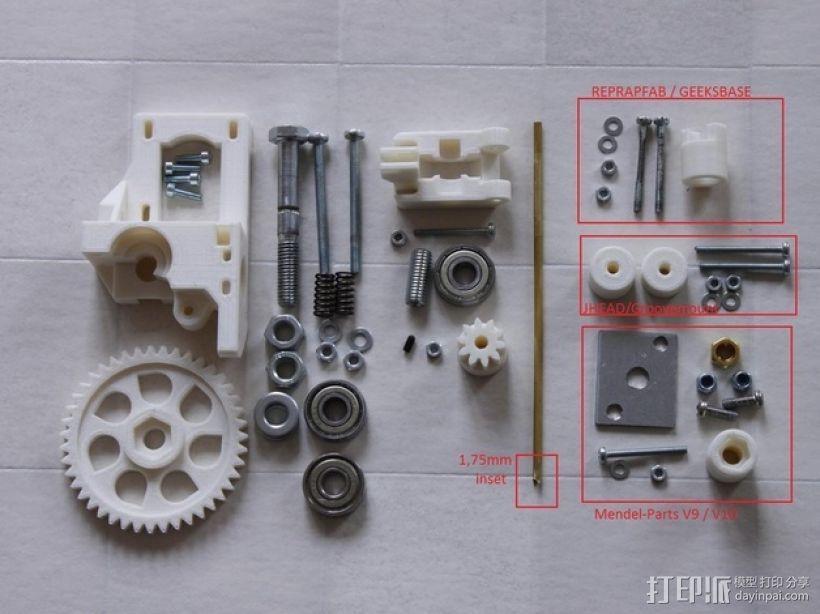 通用式挤出机 3D模型  图1