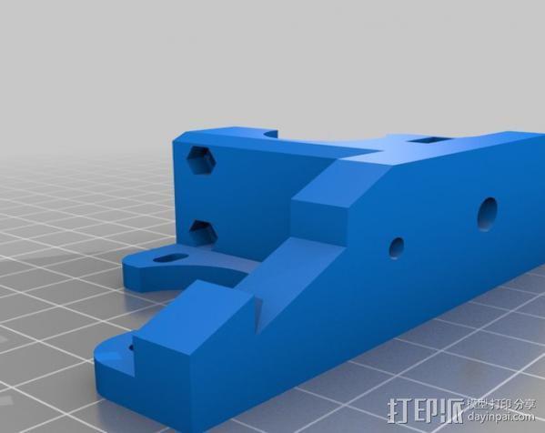 RepRapPro打印机 挤出机 3D模型  图1