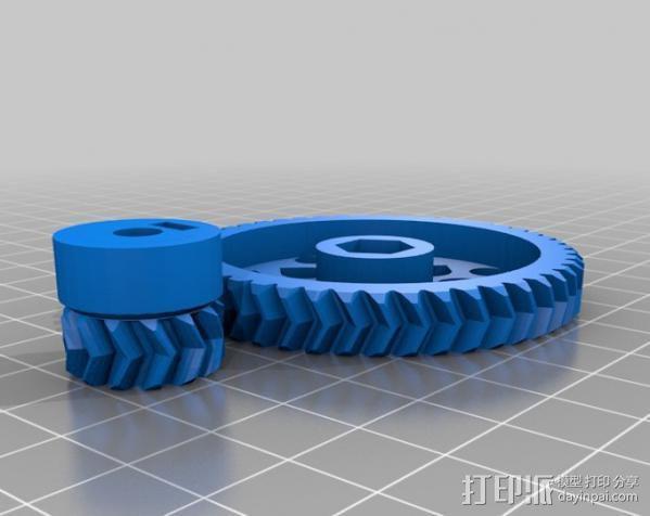 RepRapPro打印机 挤出机 3D模型  图3