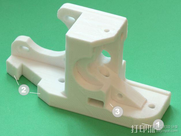RepRapPro打印机 挤出机 3D模型  图17