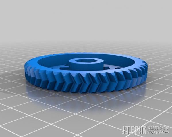 RepRapPro打印机 挤出机 3D模型  图18