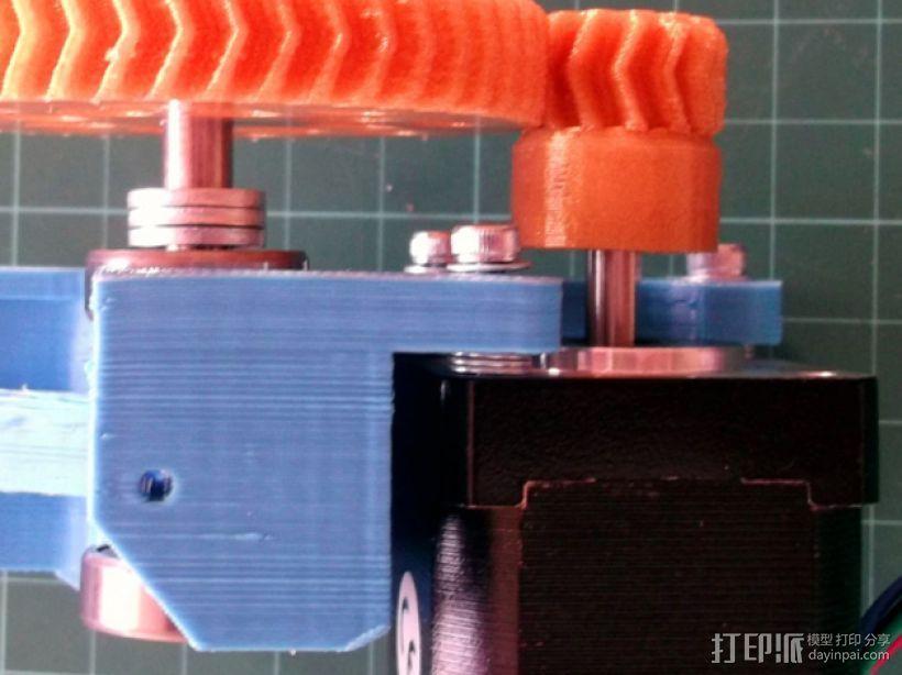 人字形齿轮挤出机 3D模型  图2