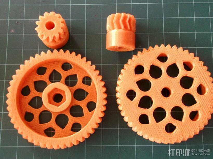 人字形齿轮挤出机 3D模型  图4