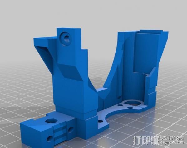 打印机X轴 挤出机 3D模型  图1
