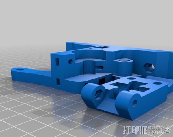 打印机X轴 挤出机 3D模型  图2