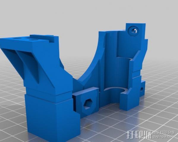 打印机X轴 挤出机 3D模型  图4