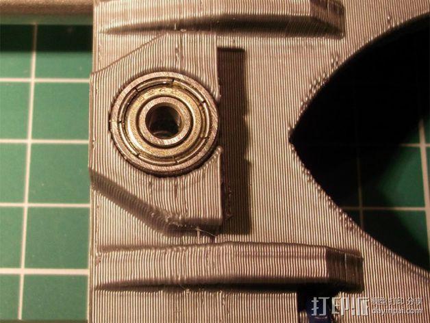 打印机X轴 挤出机 3D模型  图5